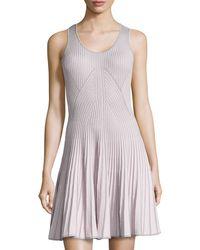 Catherine Catherine Malandrino Vanna Ribbed Sleeveless Dress - Lyst