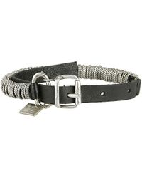 Goti Leather And Silver Bracelet - Lyst