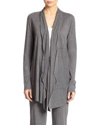 Donna Karan New York Pima Cotton Jersey Cardigan - Lyst