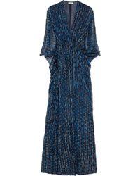 Issa Printed Silkblend Chiffon Maxi Dress - Lyst