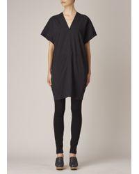 Uzi - Black Oversized V-neck Dress - Lyst