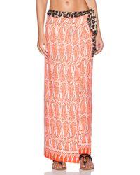 Tigerlily Orange Vadella Sarong - Lyst