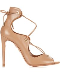 Aquazzura | Tango Leather Sandals | Lyst