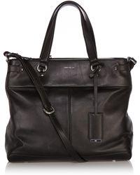 Karen Millen Soft Leather Tote - Lyst