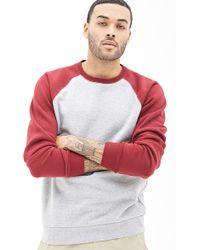 21men Colorblocked Raglan Sweatshirt - Lyst