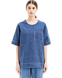 E. Tautz - Frinton Washed Denim Top - Lyst