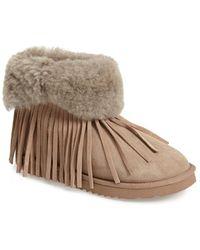 Koolaburra - 'Haley Ii' Genuine Shearling Ankle Boot - Lyst