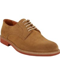 Barneys New York Suede Plaintoe Bluchers - Lyst