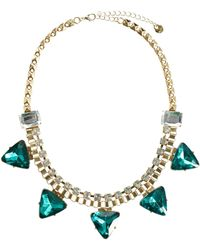 Lipsy - Triangle Collar Necklace - Lyst