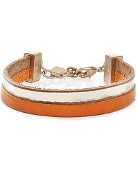 BOSS Orange - Leather Bracelet: 'morissa' - Lyst