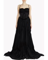 DSquared² | black Phoebe Gown | Lyst
