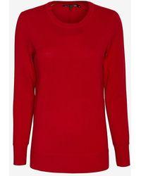 Rag & Bone Wool Crew Sweater Red - Lyst