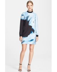 Victoria, Victoria Beckham Print Crepe Dress - Lyst