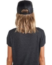 Cast Of Vices - Lambskin Leather Baseball Hat - Lyst