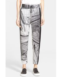Helmut Lang 'Method' Print Silk Pants - Lyst