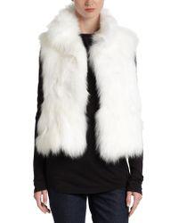 Annabelle New York Madison Fox Fur Vest - Lyst
