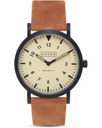 Shore Projects - Barra Suede Strap Watch, 39mm - Lyst
