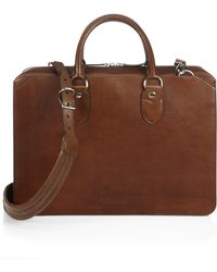 Brunello Cucinelli Leather Briefcase - Lyst