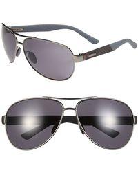 Gucci 65Mm Aviator Sunglasses - Semi Matte Dark Ruthenium - Lyst