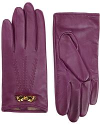 Ted Baker - Bowra Bow Trim Leather Gloves - Lyst