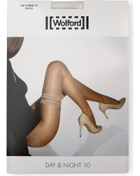 Wolford Day & Night 10 Stay-Up Tights - Lyst