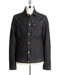 Calvin Klein Jeans Wool Collar Trucker Jacket - Lyst