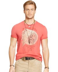 Polo Ralph Lauren Headdress Graphic T-Shirt - Lyst