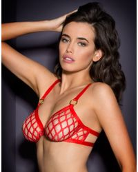 Agent Provocateur | Bubbles Bra Red | Lyst