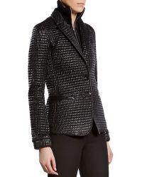 Gucci Black Shiny Zipfront Jacket - Lyst