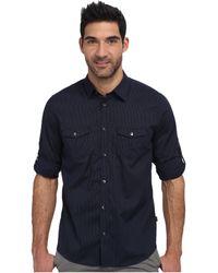 Calvin Klein Chambray Voile Long Sleeve Woven Shirt - Lyst