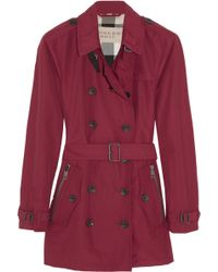 Burberry Brit - Cottonblend Twill Trench Coat - Lyst