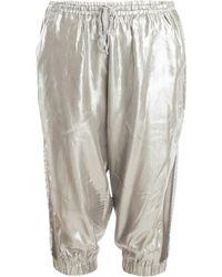 Y-3 Silver Bermuda Shorts silver - Lyst