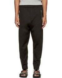 McQ by Alexander McQueen Black Logo Lounge Pants - Lyst