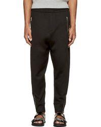 McQ by Alexander McQueen Black Logo Lounge Pants - Lyst