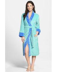 Echo - Colorblock Microvelour Kimono Robe - Lyst