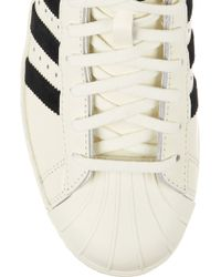 adidas Originals - Pro Model Vintage Delux Suede-trimmed Leather Trainers - Lyst