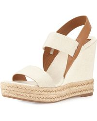 Tory Burch Two-Band Wedge Sandal - Lyst