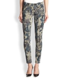 Paige Edgemont Ultra Skinny Abstractprint Jeans - Lyst