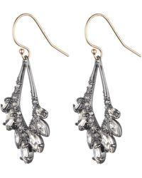 Alexis Bittar Asymmetrical Jagged Marquis Earring silver - Lyst