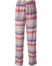 Missoni Zigzag Knit Trousers - Lyst