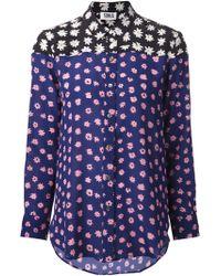 Sonia By Sonia Rykiel Colorblock Daisy Shirt - Lyst