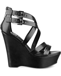G By Guess Womens Hibiza Platform Wedge Sandals - Lyst