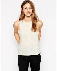 Twenty Twist Back Tank Top - Lyst