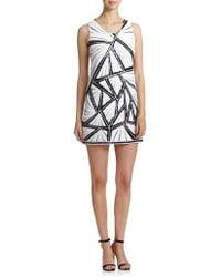 Shoshanna Graphic Sequined Kimberley Dress white - Lyst