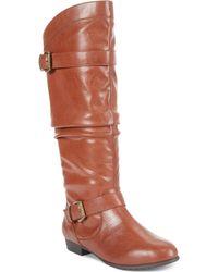 Rampage Basking Flat Kneehigh Boots - Lyst