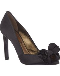 Lanvin Satin Bow-Embellished Pumps - Lyst