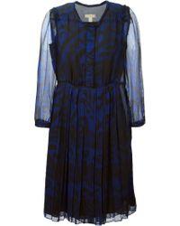 Burberry Brit Floral Print Pleated Dress - Lyst