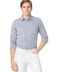Calvin Klein Linkstriped Chambray Dobby Shirt - Lyst
