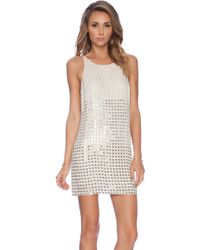 Parker Monaco Embellished Dress - Lyst