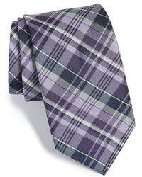Michael Kors - 'precious' Plaid Silk & Cotton Tie - Lyst